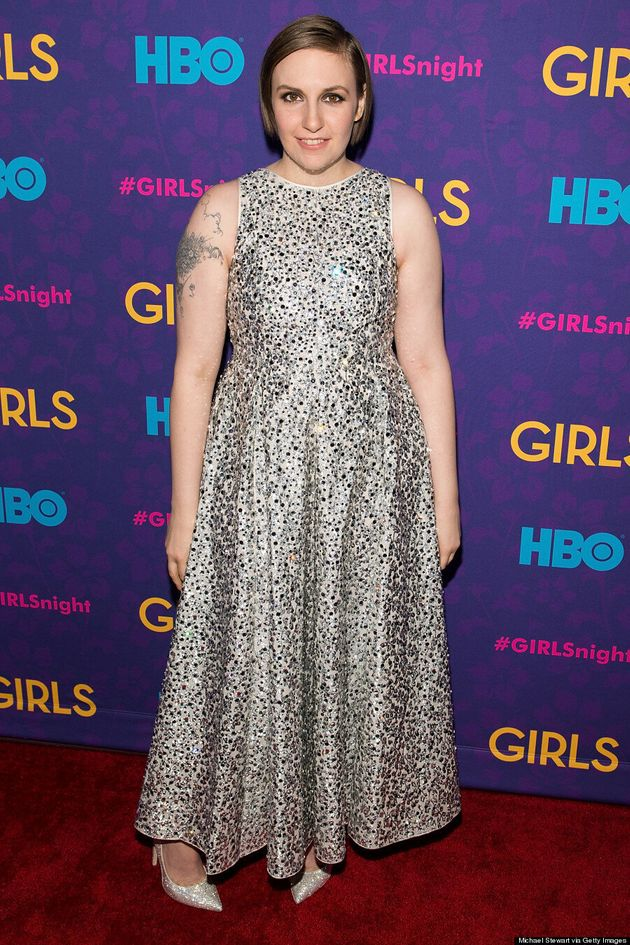 Lena Dunham Dazzles In Sequined Rochas Dress At 'Girls' Season 3 Premiere