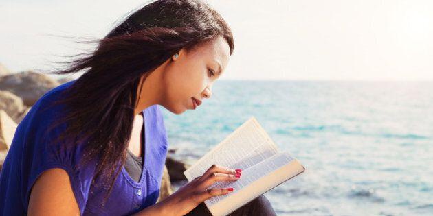 beautiful girl reading