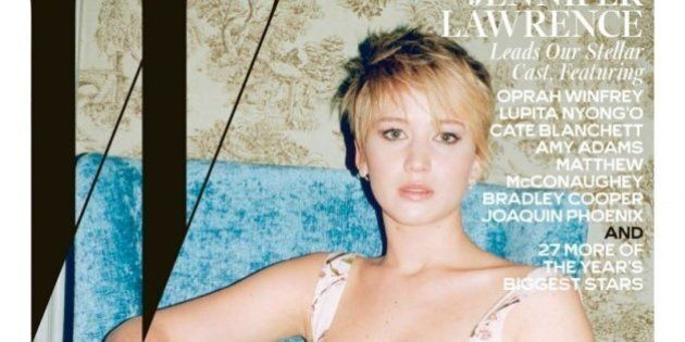 Jennifer Lawrence And Amy Adams Look Hot On W Magazine's Movie Issue Cover