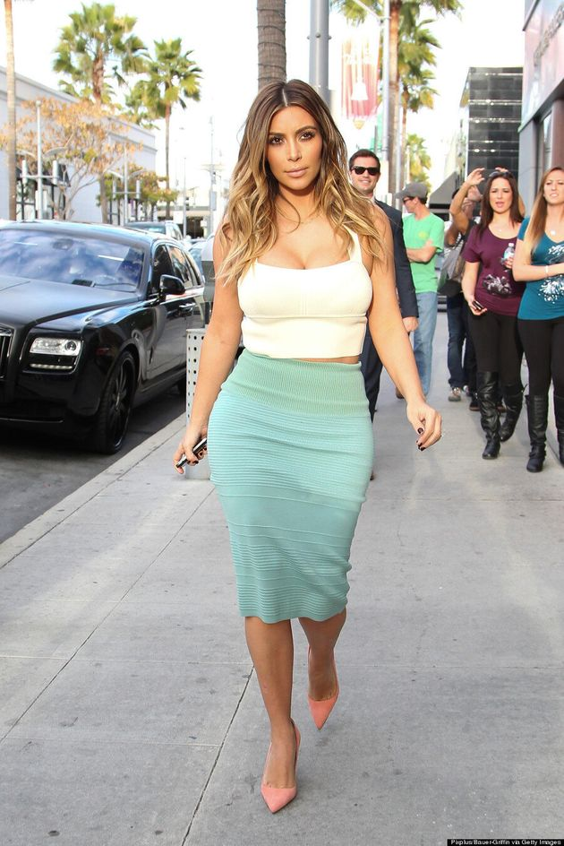 Kim Kardashian Busts Out Of Top, Still Looks Glamorous (VIDEO,