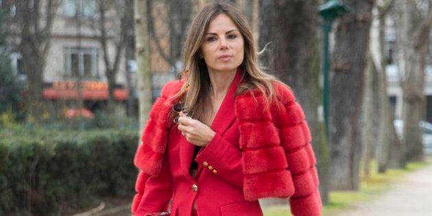 PARIS, FRANCE - MARCH 09: Vogue editor and creative director of Louis Leeman Erica Pelosini wears all...