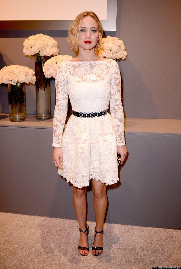 Jennifer Lawrence Wears Oscar de la Renta At Elle