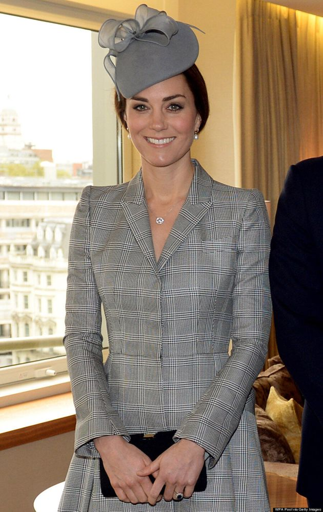 Kate Middleton Wears Alexander McQueen In First Public Appearance Since Baby