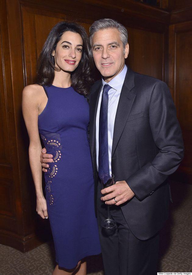 Amal Clooney Stuns In Sleeveless Dress At 100 Lives