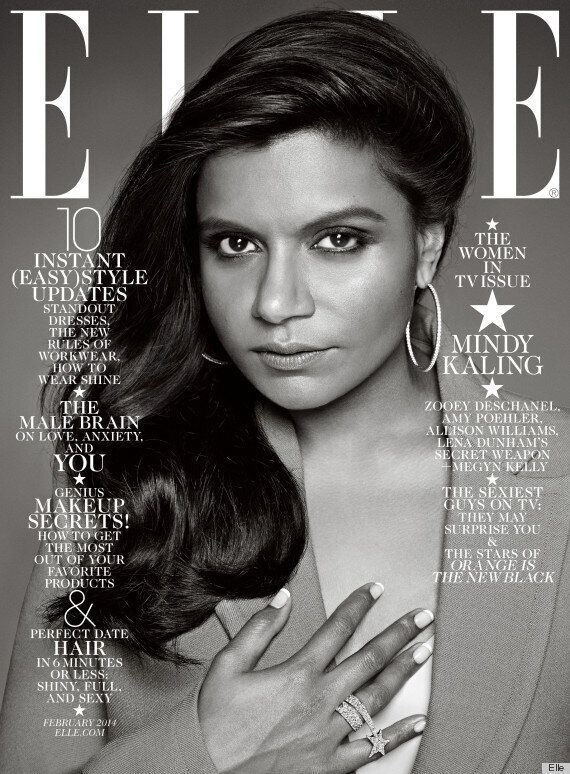 Mindy Kaling's Elle Cover Is Beautiful In Black And White