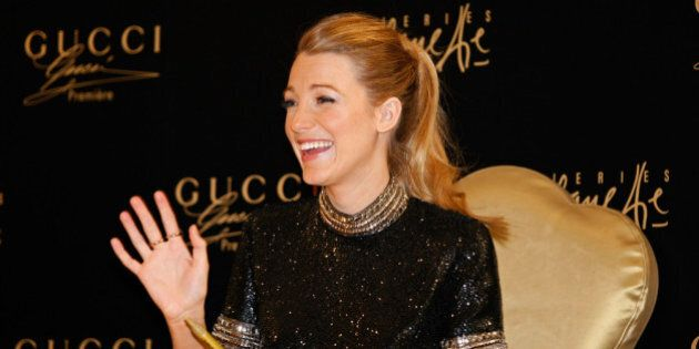 DUBAI, UNITED ARAB EMIRATES - JANUARY 03: Blake Lively attends a photocall and meets 'Gucci Premiere'...