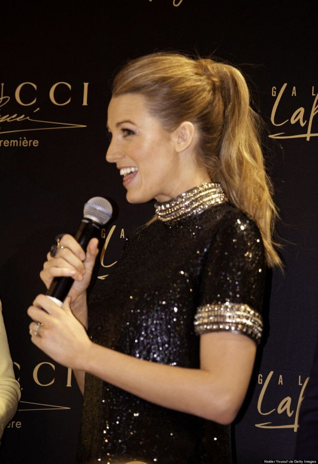 Blake Lively Sparkles In Gucci Without Hubby Ryan Reynolds