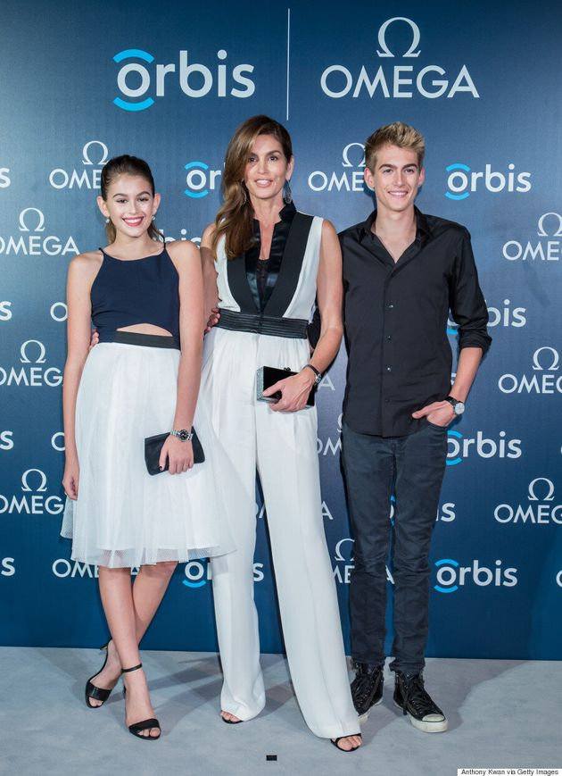 Cindy Crawford And Children Kaia And Presley Go Matchy-Matchy On The Red