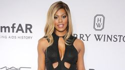 Laverne Cox Stuns In Sexy Black Dress at amfAR