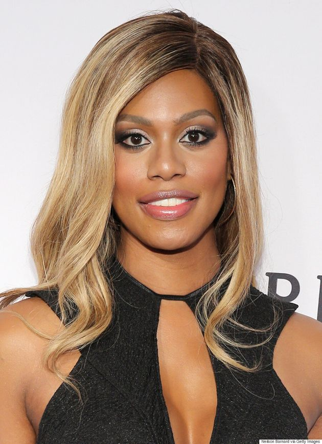 Laverne Cox Stuns In Sexy Black Dress At amfAR Inspiration