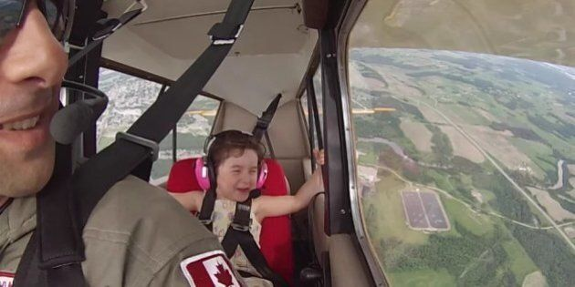Quebec Dad Proves Daughter Has No Fear Of