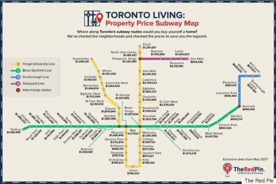 Toronto House Price Map Shows Some Subway Stations Are Still -- Gasp! --