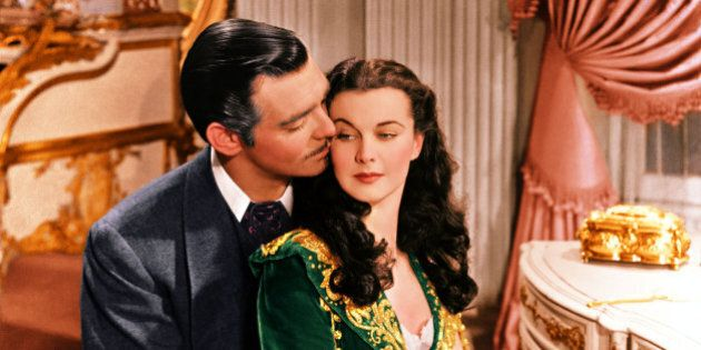 Clark Gable (1901–1960), US actor, and Vivien Leigh (1913-1967), British actress, in a publicity still...