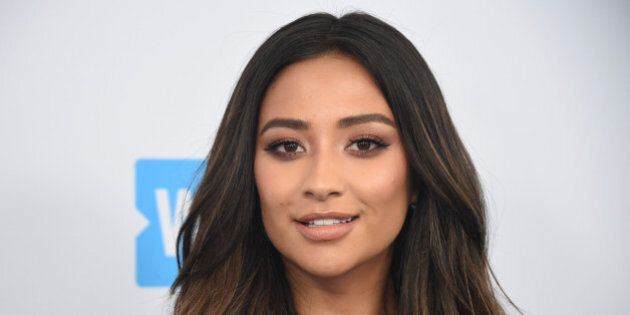 Shay Mitchell attends the WE Day event in Los Angeles, California, U.S., April 27, 2017. REUTERS/Phil