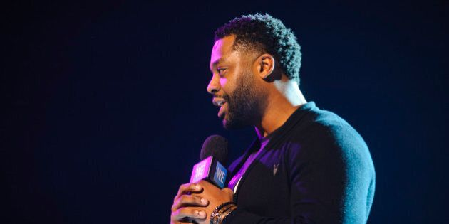 ROSEMONT, IL - MARCH 01:  LaRoyce Hawkins attends WE Day 2017 at Allstate Arena on March 1, 2017 in Rosemont, Illinois.  (Photo by Timothy Hiatt/Getty Images for WE)