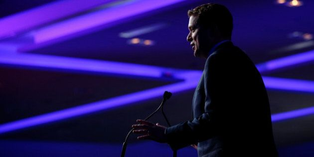Conservative leadership candidate Andrew Scheer speaks at the Conservative Party of Canada leadership...