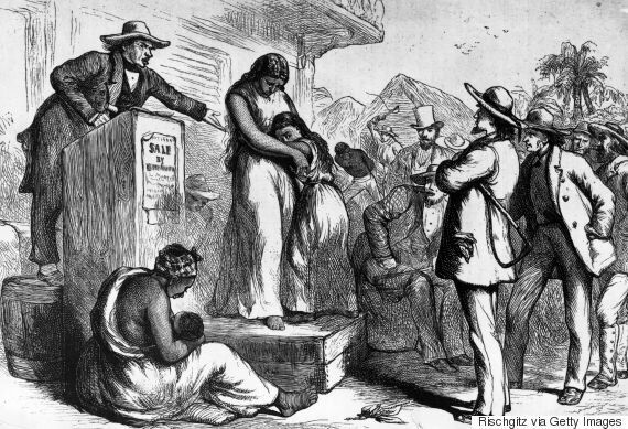 A slave auction in America. (Photo: Getty)
