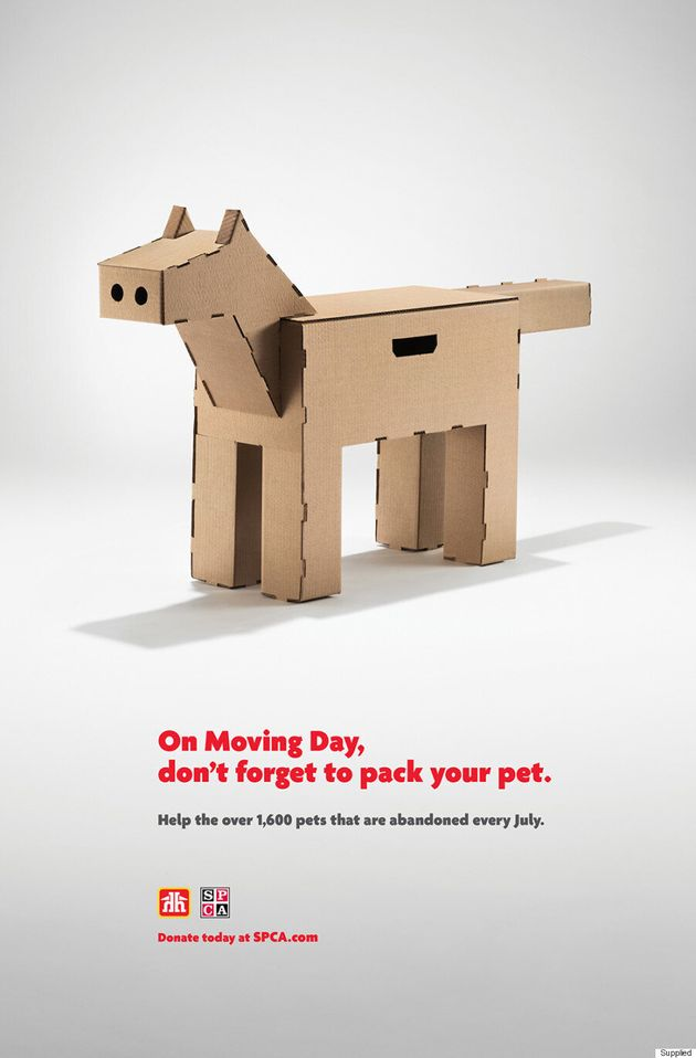 These Moving Boxes Were Made To Help Stop Pet Abandonment In