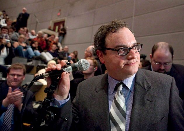 Ezra Levant is shown at the University of Ottawa on March 23,