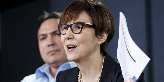 Cindy Blackstock (R), executive director of the First Nations Child and Family Caring Society Caring...