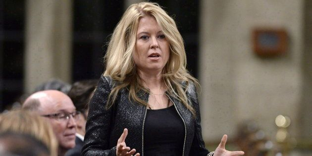 Conservative MP Michelle Rempel asks a question during Question Period in the House of Commons on Parliament...