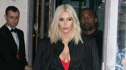 Kim Kardashian's Menswear Look Falls
