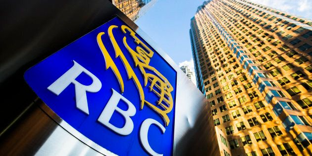 A Royal Bank of Canada (RBC) logo on Bay Street in Toronto's financial district, January 22,