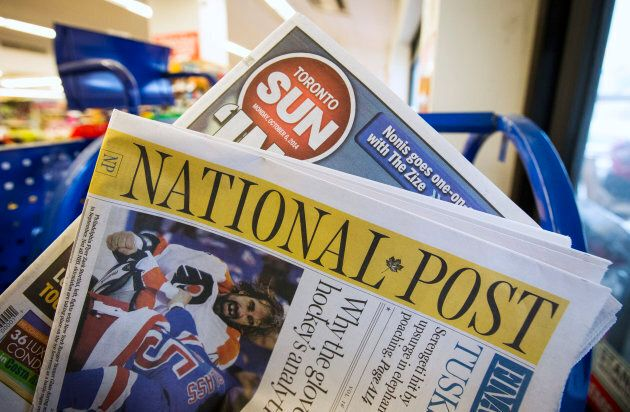 Toronto Sun and National Post newspapers, owned by