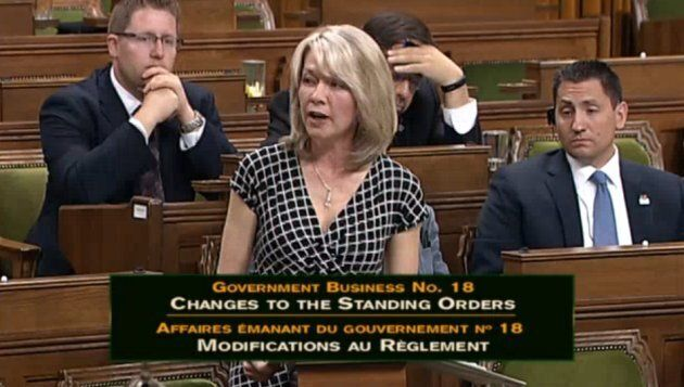 Candice Bergen speaks in the House of Commons on June 19,