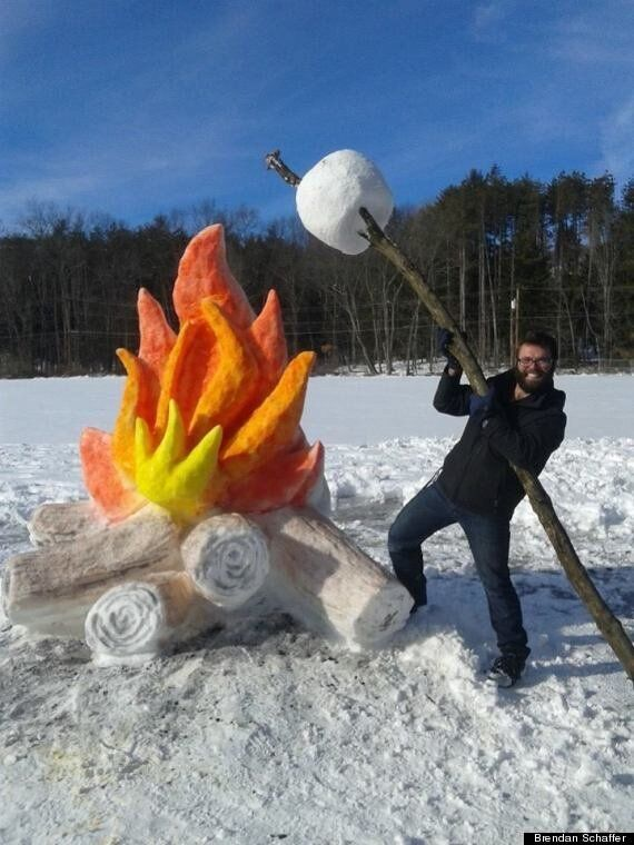 New Jersey Man Creates The Most Epic Snow