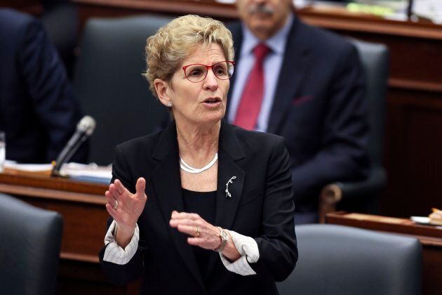 Premier Kathleen Wynne during question period at Queen's Park, Feb. 21,
