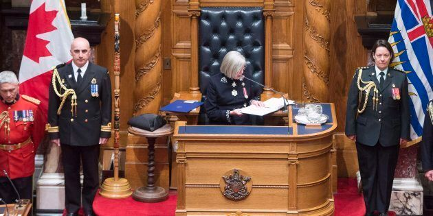 B.C. Lieutenant Governor Judith Guichon reads the Speech from Throne in Victoria on