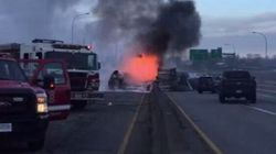 Truck Fire Shuts Down Highway 99 South Of Massey