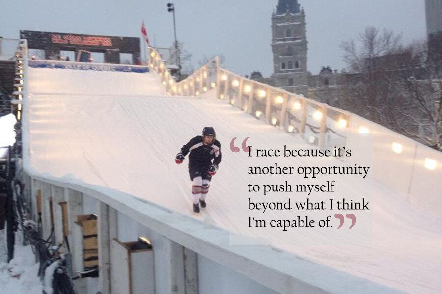 Brave Women Prepare For Red Bull's Crashed Ice Race In