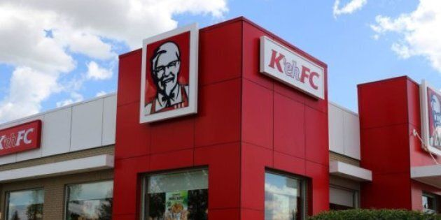 A new sign marking the name change is going up at the very first Canadian KFC location in
