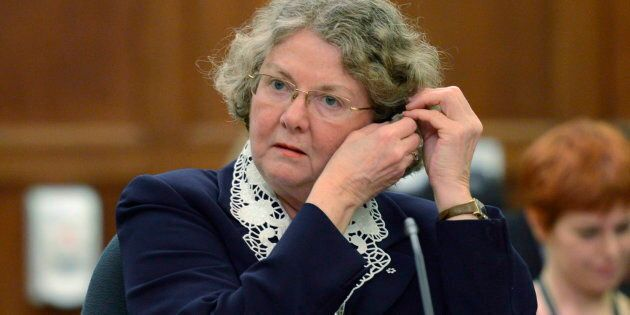 Ethics Commissioner Mary Dawson waits to appear at the Standing Committee on Access to Information, Privacy...