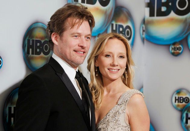 Actors Anne Heche and James Tupper arrive at the HBO after-party after the Golden Globe Awards in Beverly...