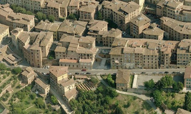 Overview of the layout in Siena Italy