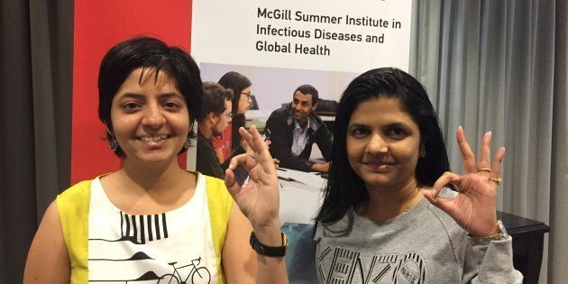 Nandita Venkatesan (left) and Deepti Chavan (right), TB survivors and patient advocates from India, spent...
