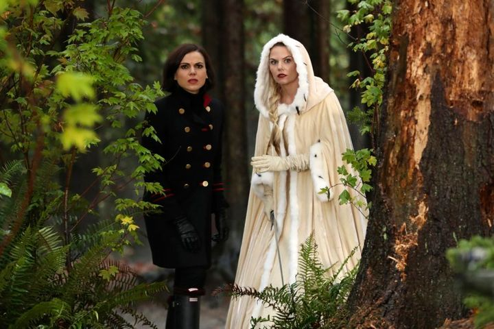 "Regina Mills and Emma Swan from ABC's ""Once Upon A Time"""