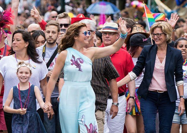 Sophie Gregoire Trudeau and daughter Ella-Grace Margaret Trudeau (L) attend the 38th Annual Vancouver...
