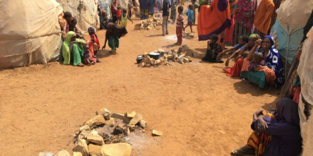 An internal displacement camp in Somalia.
