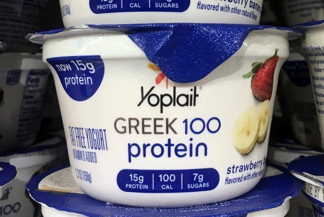 This file photo shows Yoplait Greek yogurt on display at a supermarket in Port Chester, N.Y. There is...