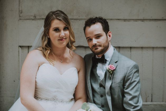 Melissa and Brandon on their wedding day.