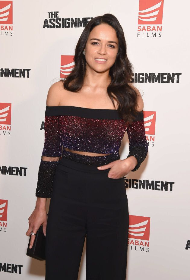 Michelle Rodriguez attends 'The Assignment' screening at the Whitby Hotel on April 3, 2017 in New York City.