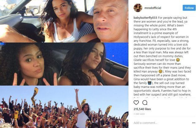 Michelle Rodriguez Threatens To Leave 'Fast And Furious'