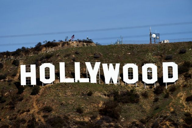 """A view shows the """"iconic """"Hollywood"""" sign overlooking Southern California's film-and-television hub in the Hollywood Hills in Los Angeles, California, U.S."""
