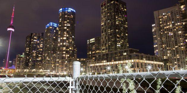 Condominium buildings near the CN Tower in Toronto, May 26, 2017.