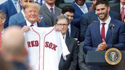 보스턴 레드삭스 백악관 초청행사가 열렸고, 선수들이 대거