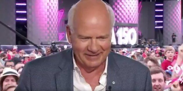 CBC anchor Peter Mansbridge gets emotional as he finishes his Canada Day